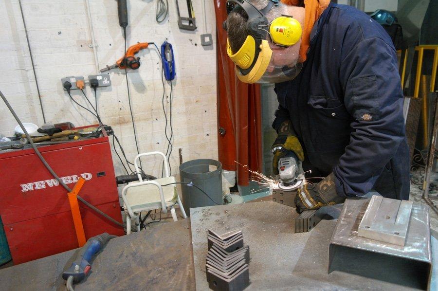 Person Working Industrial Blasting - KMA Shot Blasting UK