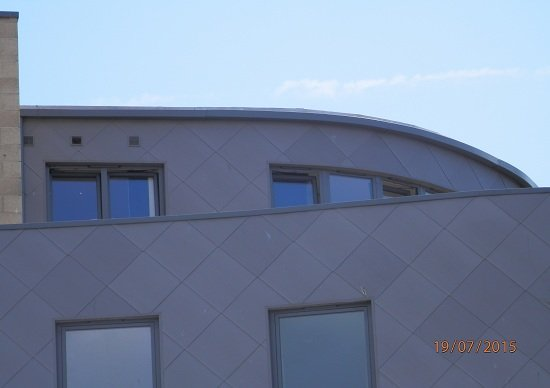 Curved Cappings Student Accommodation - KMA Shot Blasting