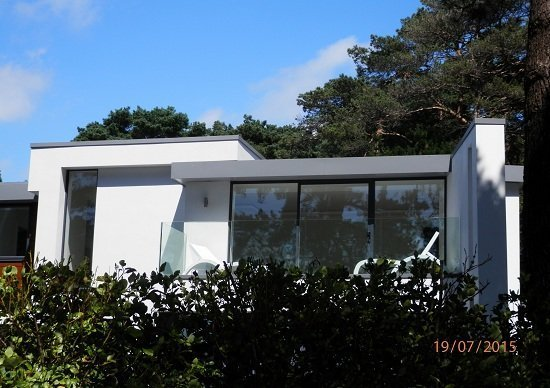 Fascias at Banks Road Sandbanks Poole - KMA Shot Blasting UK