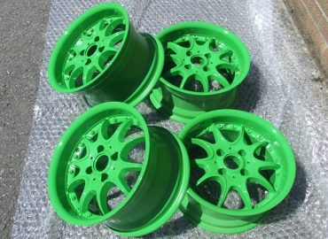 Lime Green Alloy Wheels Restoration - KMA Shot Blasting